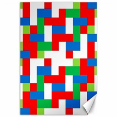 Geometric Maze Chaos Dynamic Canvas 12  X 18