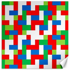 Geometric Maze Chaos Dynamic Canvas 16  X 16