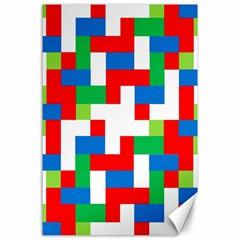 Geometric Maze Chaos Dynamic Canvas 24  X 36