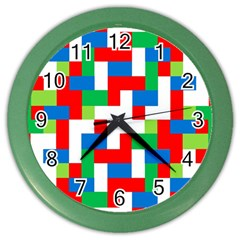 Geometric Maze Chaos Dynamic Color Wall Clocks