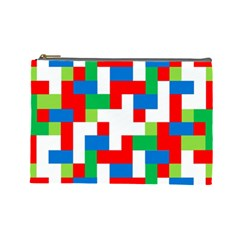 Geometric Maze Chaos Dynamic Cosmetic Bag (large)