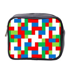 Geometric Maze Chaos Dynamic Mini Toiletries Bag 2 Side by Nexatart