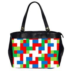 Geometric Maze Chaos Dynamic Office Handbags (2 Sides)
