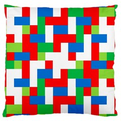 Geometric Maze Chaos Dynamic Large Cushion Case (two Sides) by Nexatart