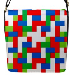 Geometric Maze Chaos Dynamic Flap Messenger Bag (s)