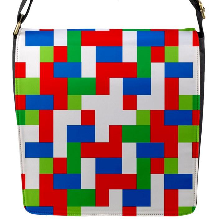 Geometric Maze Chaos Dynamic Flap Messenger Bag (S)