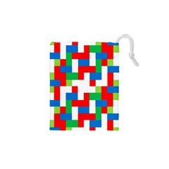 Geometric Maze Chaos Dynamic Drawstring Pouches (xs)