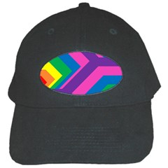 Geometric Rainbow Spectrum Colors Black Cap