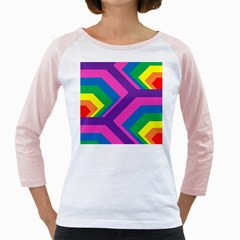 Geometric Rainbow Spectrum Colors Girly Raglans