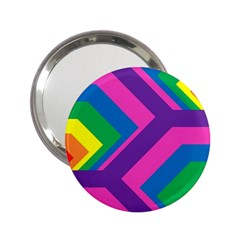 Geometric Rainbow Spectrum Colors 2 25  Handbag Mirrors