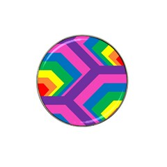 Geometric Rainbow Spectrum Colors Hat Clip Ball Marker (4 Pack)