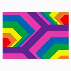 Geometric Rainbow Spectrum Colors Large Glasses Cloth (2 Side)