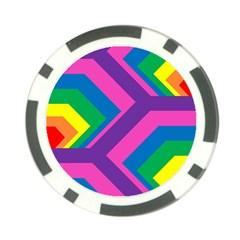 Geometric Rainbow Spectrum Colors Poker Chip Card Guard