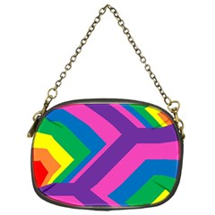 Geometric Rainbow Spectrum Colors Chain Purses (one Side)