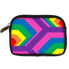 Geometric Rainbow Spectrum Colors Digital Camera Cases