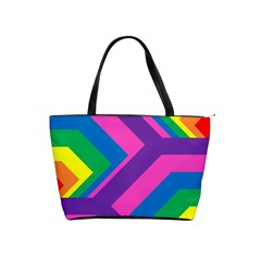 Geometric Rainbow Spectrum Colors Shoulder Handbags