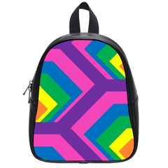 Geometric Rainbow Spectrum Colors School Bag (small)