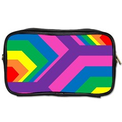 Geometric Rainbow Spectrum Colors Toiletries Bags 2 Side