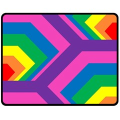Geometric Rainbow Spectrum Colors Fleece Blanket (medium)