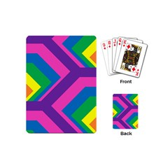 Geometric Rainbow Spectrum Colors Playing Cards (mini)