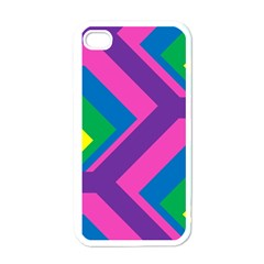 Geometric Rainbow Spectrum Colors Apple Iphone 4 Case (white)