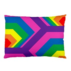 Geometric Rainbow Spectrum Colors Pillow Case (two Sides)