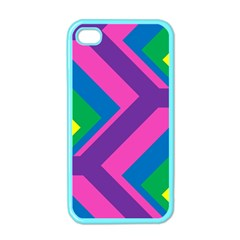Geometric Rainbow Spectrum Colors Apple Iphone 4 Case (color)