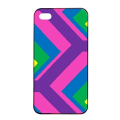 Geometric Rainbow Spectrum Colors Apple Iphone 4/4s Seamless Case (black)