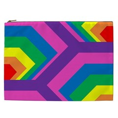 Geometric Rainbow Spectrum Colors Cosmetic Bag (xxl)