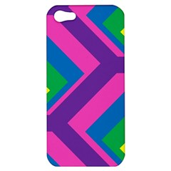 Geometric Rainbow Spectrum Colors Apple Iphone 5 Hardshell Case