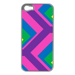Geometric Rainbow Spectrum Colors Apple Iphone 5 Case (silver)