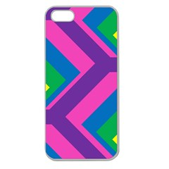 Geometric Rainbow Spectrum Colors Apple Seamless Iphone 5 Case (clear)