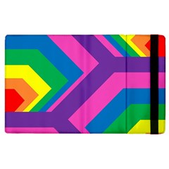 Geometric Rainbow Spectrum Colors Apple Ipad 2 Flip Case