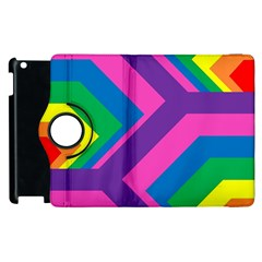Geometric Rainbow Spectrum Colors Apple Ipad 2 Flip 360 Case