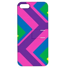 Geometric Rainbow Spectrum Colors Apple Iphone 5 Hardshell Case With Stand