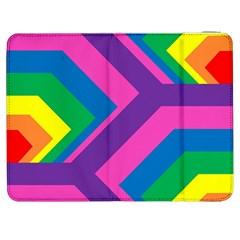 Geometric Rainbow Spectrum Colors Samsung Galaxy Tab 7  P1000 Flip Case