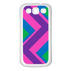 Geometric Rainbow Spectrum Colors Samsung Galaxy S3 Back Case (white)