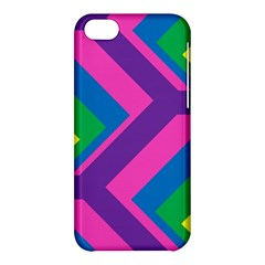 Geometric Rainbow Spectrum Colors Apple Iphone 5c Hardshell Case by Nexatart