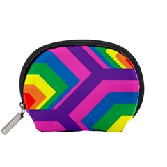 Geometric Rainbow Spectrum Colors Accessory Pouches (small)