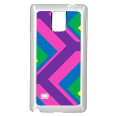Geometric Rainbow Spectrum Colors Samsung Galaxy Note 4 Case (white)