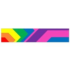 Geometric Rainbow Spectrum Colors Small Flano Scarf