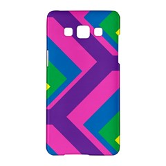 Geometric Rainbow Spectrum Colors Samsung Galaxy A5 Hardshell Case