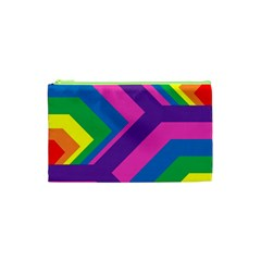 Geometric Rainbow Spectrum Colors Cosmetic Bag (xs)