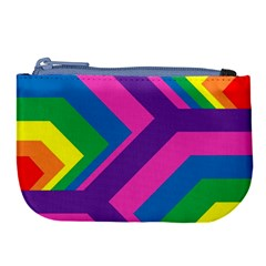 Geometric Rainbow Spectrum Colors Large Coin Purse