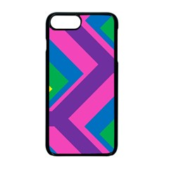 Geometric Rainbow Spectrum Colors Apple Iphone 7 Plus Seamless Case (black)