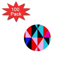 Geometric Pattern Design Angles 1  Mini Buttons (100 Pack)