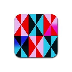 Geometric Pattern Design Angles Rubber Square Coaster (4 Pack)
