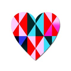 Geometric Pattern Design Angles Heart Magnet
