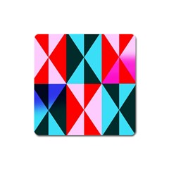 Geometric Pattern Design Angles Square Magnet