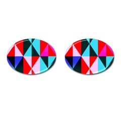 Geometric Pattern Design Angles Cufflinks (oval)